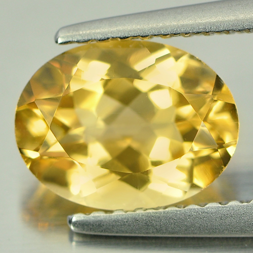 1.67 Ct. Good Color Oval Shape Natural Yellow Citrine Unheated Gemstone
