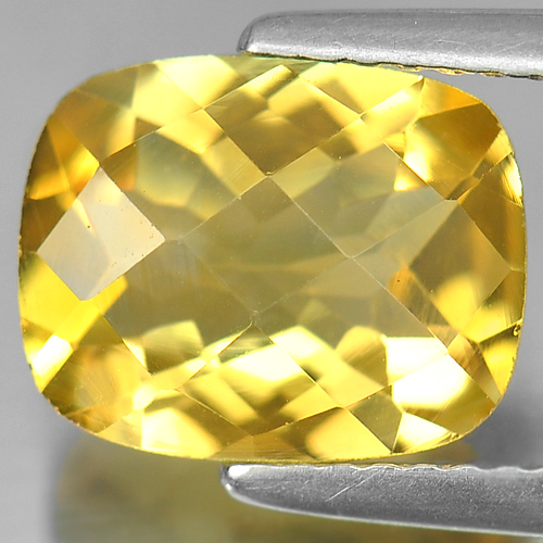 2.43 Ct. Lovely Cushion Checkerboard Unheated Natural Gem Yellow Citrine Brazil