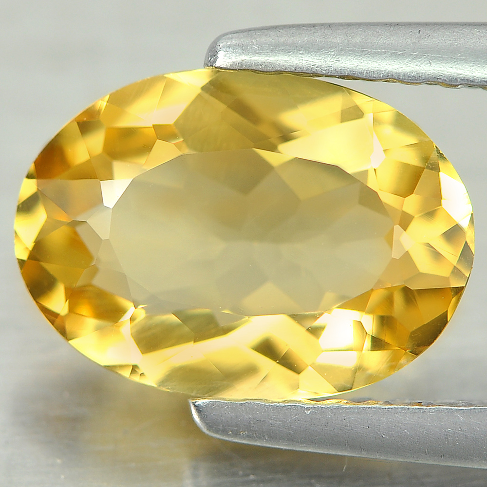 1.37 Ct. Good Color Natural Yellow Citrine Gemstone Oval Shape Unheated
