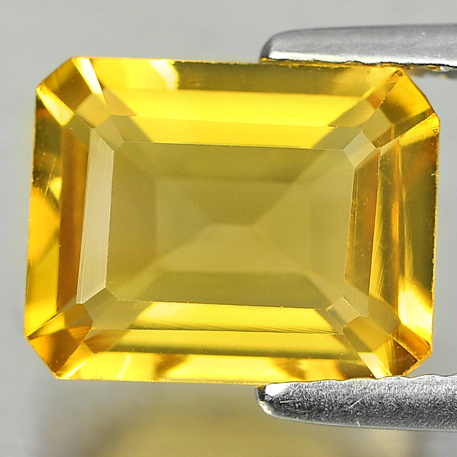 2.75 Ct. Attractive Octagon Shape Natural Yellow Color Citrine Unheated