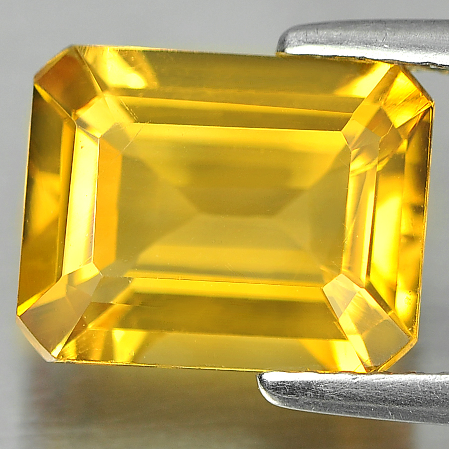 2.72 Ct. Octagon Shape Natural Gemstones Yellow Color Citrine Unheated