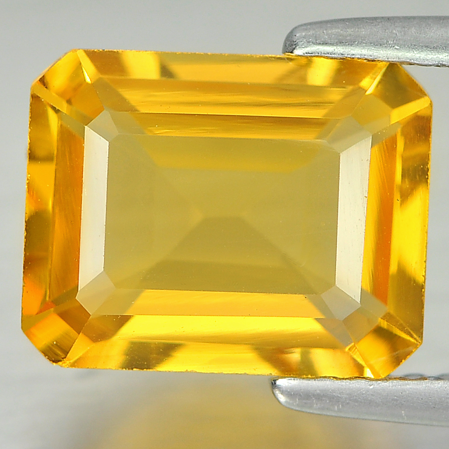 2.70 Ct. Good Cutting Octagon Shape Natural Gem Yellow Citrine Unheated