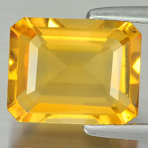 2.57 Ct. Attractive Octagon Shape Natural Yellow Citrine From Brazil Unheated