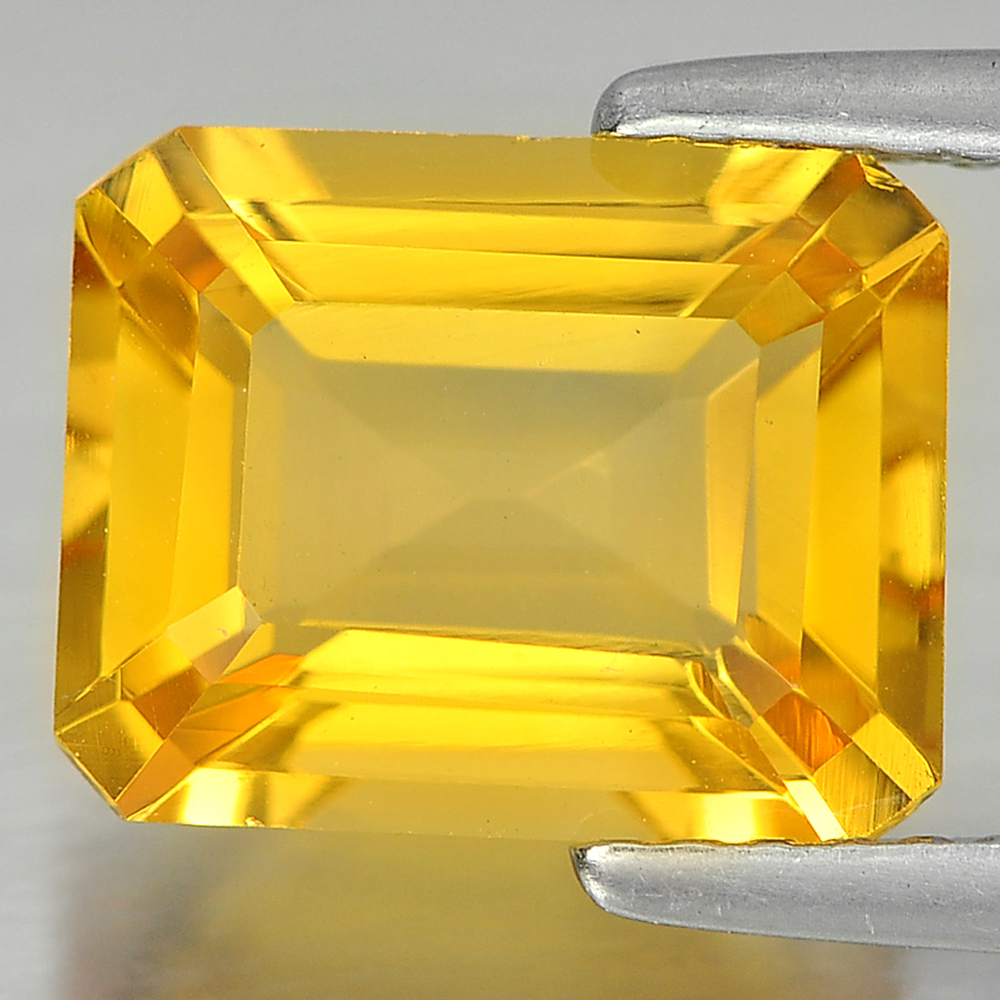 2.67 Ct. Good Cutting Octagon Shape Natural Yellow Color Citrine From Brazil