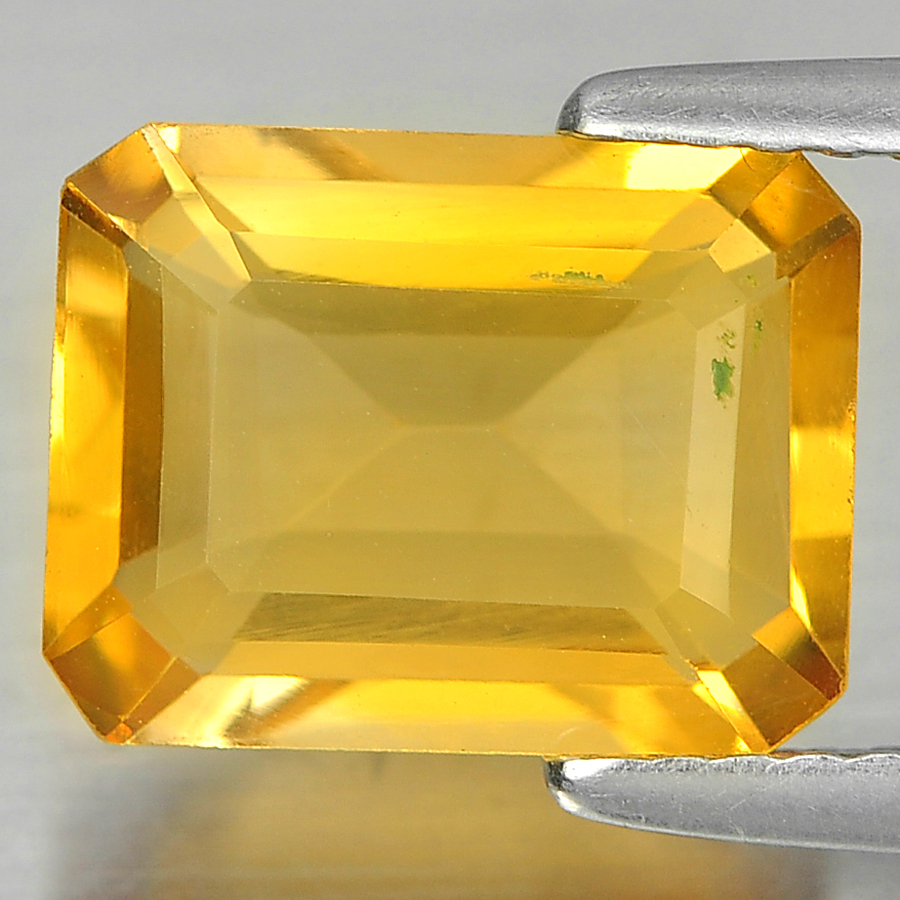 2.56 Ct. Octagon Shape Gem Natural Yellow Citrine Unheated
