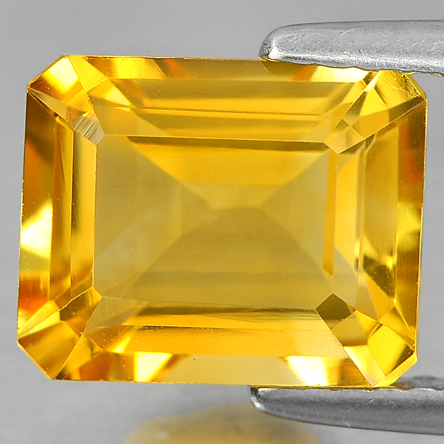 Delightful 3.12 Ct. Octagon Shape Natural Yellow Citrine From Brazil Unheated