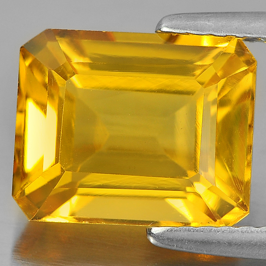 3.58 Ct. Delightful Octagon Shape Natural Gemstone Yellow Citrine Unheated