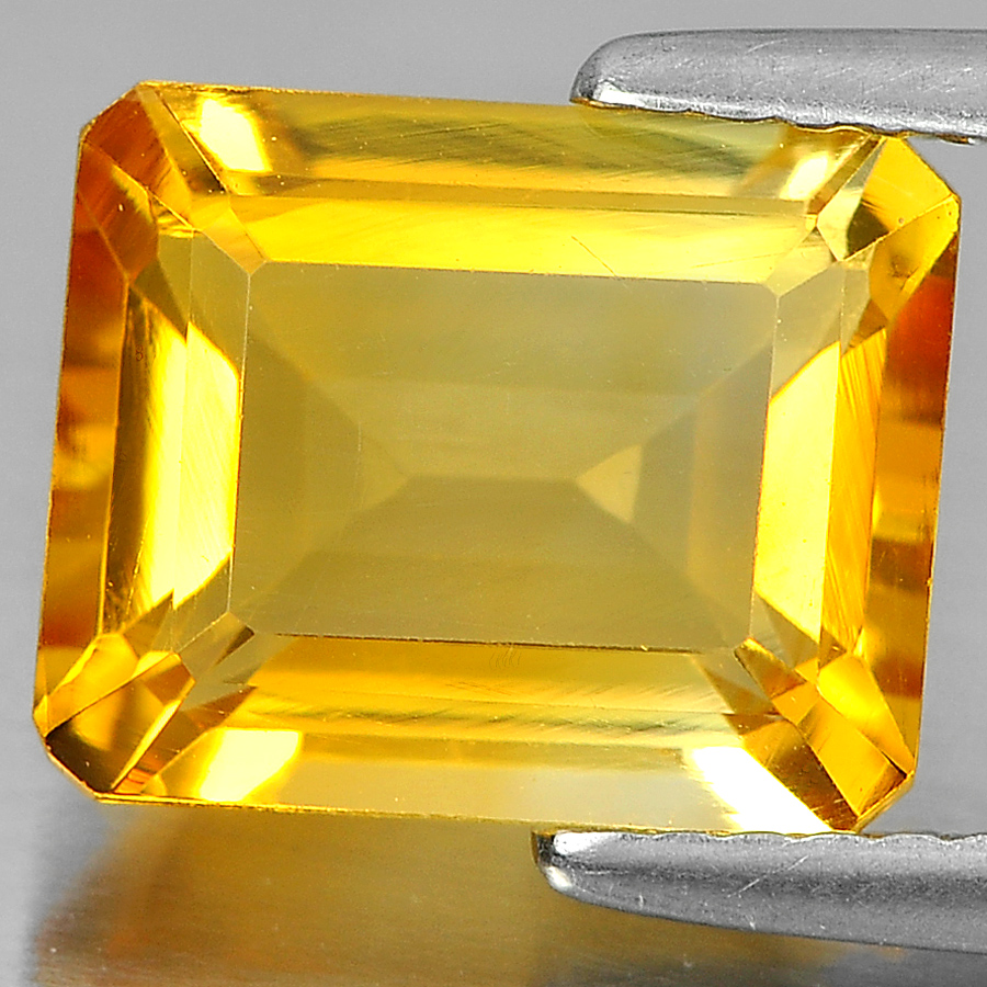3.06 Ct. Good Octagon Shape Natural Gemstone Yellow Citrine Unheated