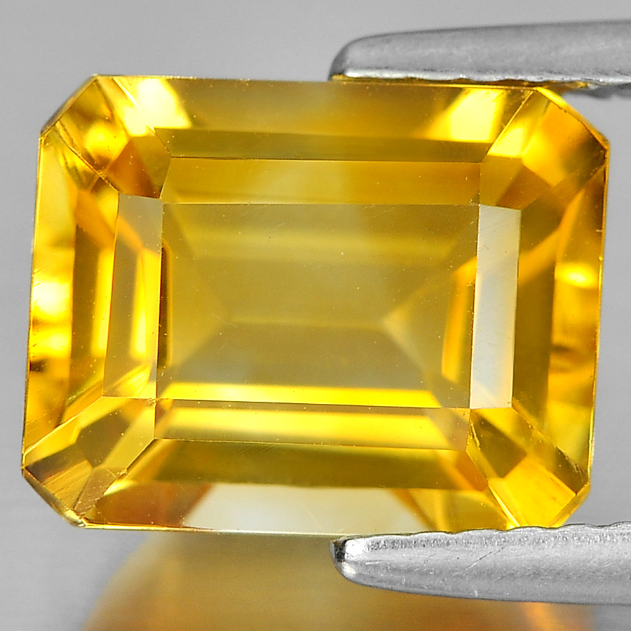 3.04 Ct. Octagon Shape Gemstone Natural Yellow Citrine From Brazil Unheated