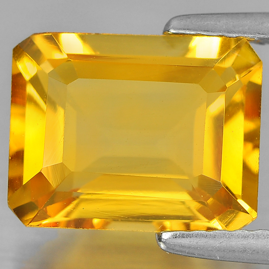 2.99 Ct. Good Octagon Shape Natural Gem Yellow Citrine Unheated