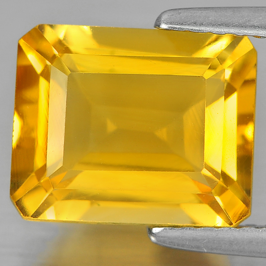 3.23 Ct. Octagon Shape Natural Gem Yellow Citrine Unheated From Brazil
