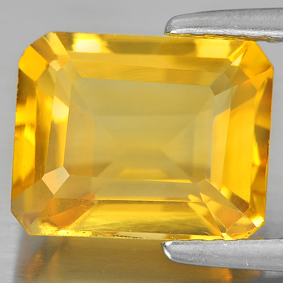 3.02 Ct. Good Octagon Shape Natural Gem Yellow Citrine Unheated From Brazil