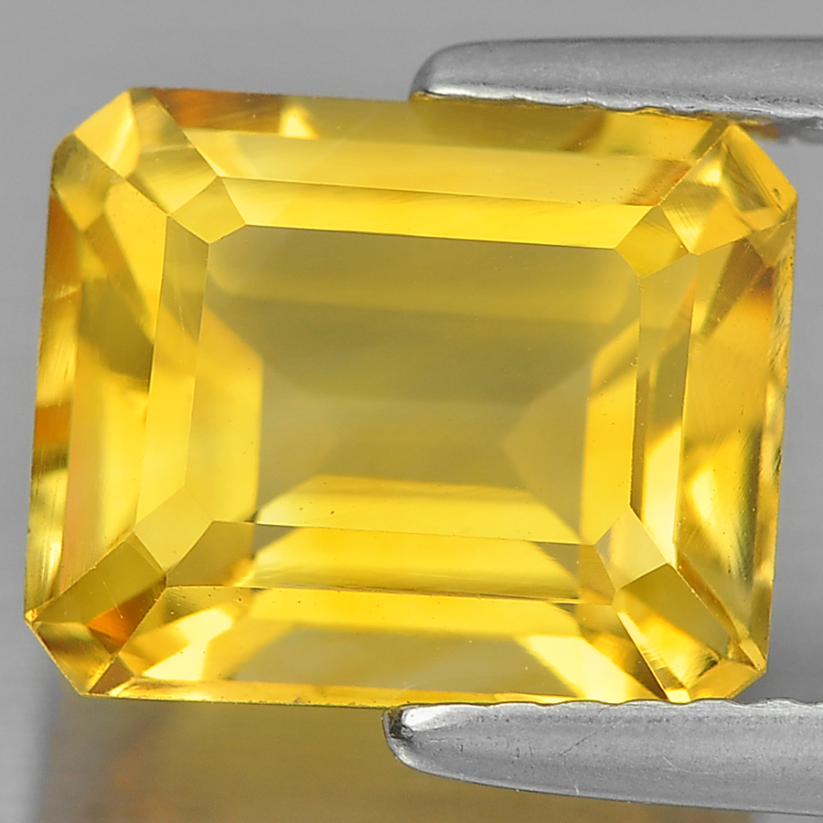 3.18 Ct. Delightful Octagon Shape Natural Gem Yellow Citrine Unheated