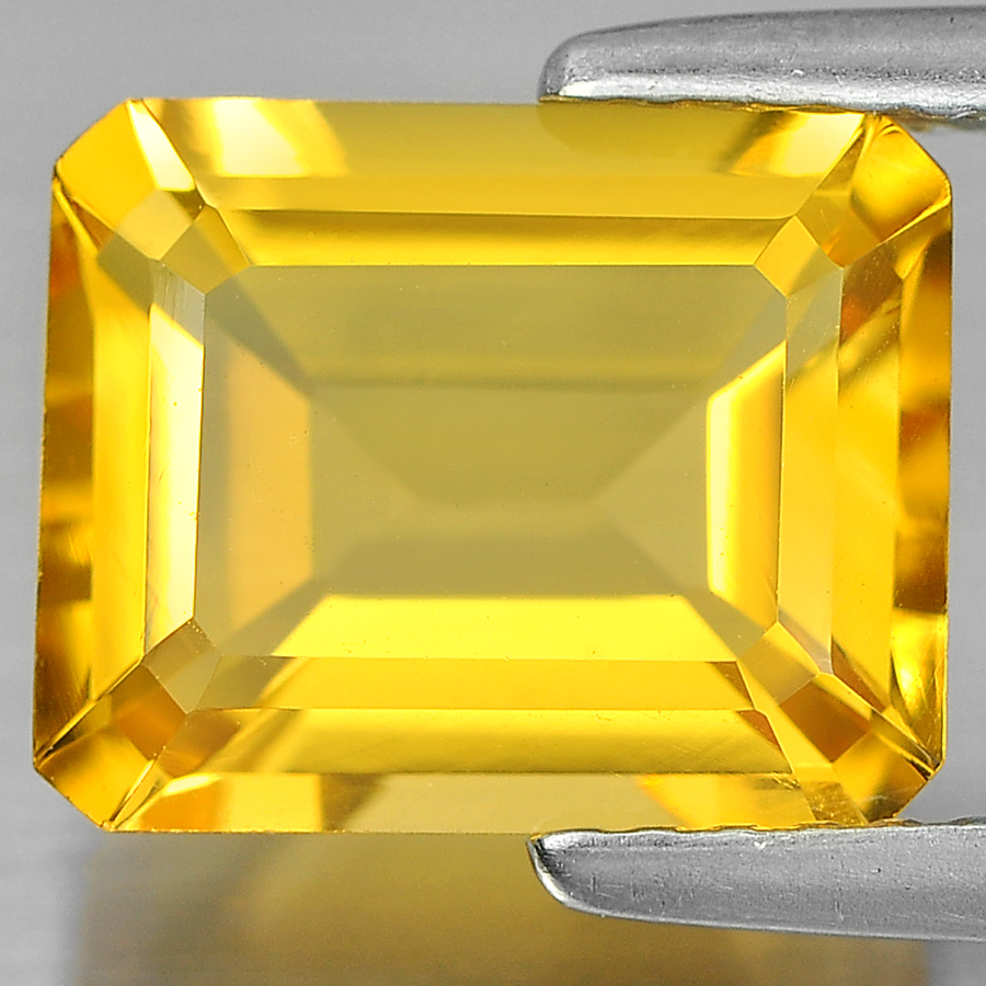 Unheated 2.78 Ct. Charming Octagon Shape Natural Yellow Citrine From Brazil