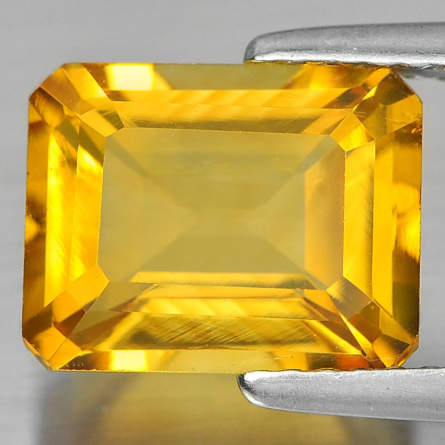 Unheated 2.81 Ct. Nice Octagon Shape Natural Yellow Citrine From Brazil