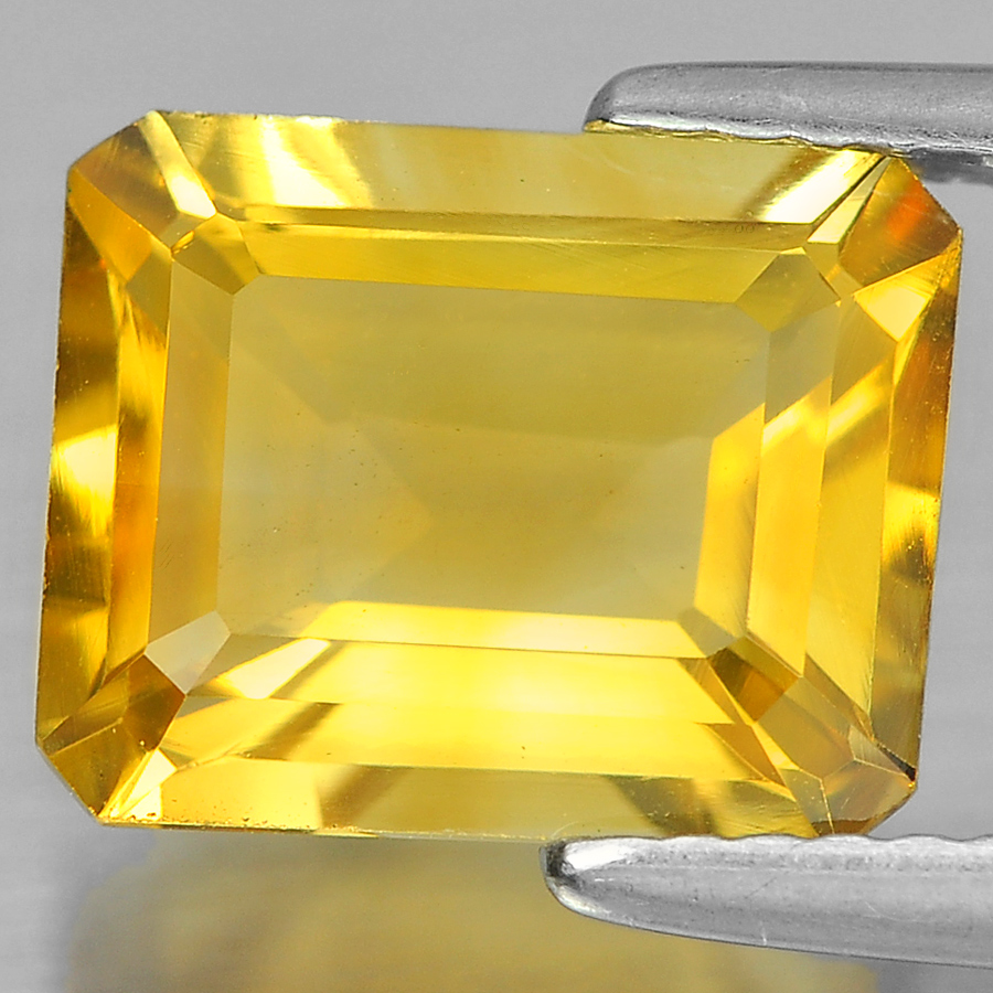2.89 Ct. Beautiful Octagon Shape Natural Gem Yellow Citrine Unheated