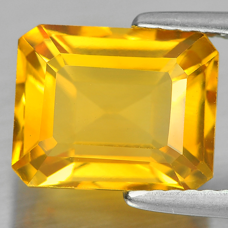 3.40 Ct. Good Octagon Shape Natural Yellow Citrine From Brazil
