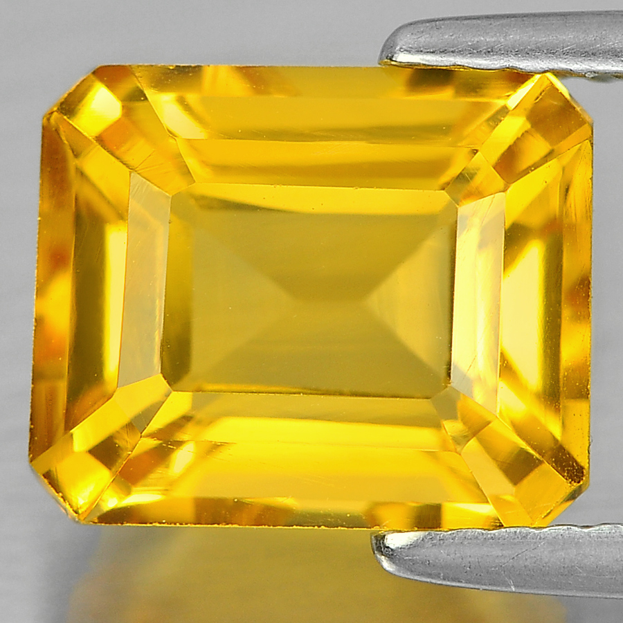 3.41 Ct. Pretty Octagon Shape Natural Gemstone Yellow Citrine Unheated