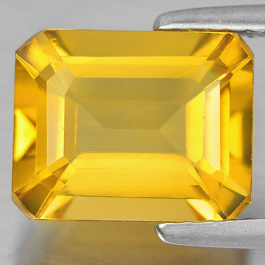 2.97 Ct. Alluring Octagon Shape Natural Gem Yellow Citrine Unheated
