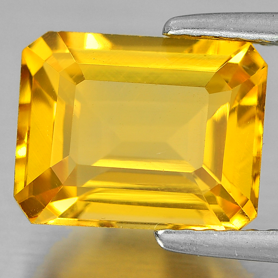 3.04 Ct. Beautiful Octagon Shape Natural Gemstone Yellow Citrine Unheated