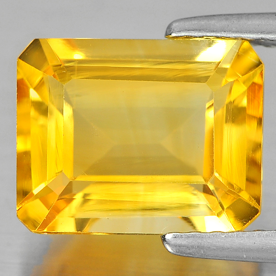 2.94 Ct. Attractive Octagon Shape Natural Gemstone Yellow Citrine Unheated