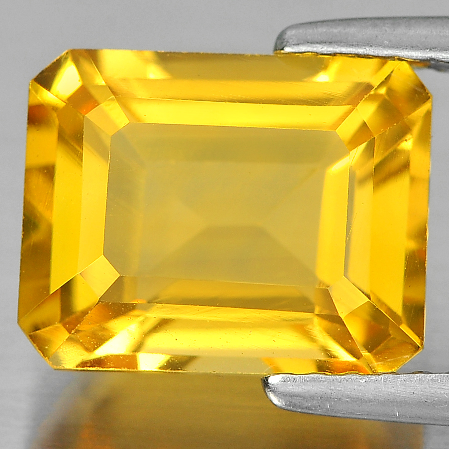 3.06 Ct. Charming Octagon Shape Natural Gemstone Yellow Citrine Unheated