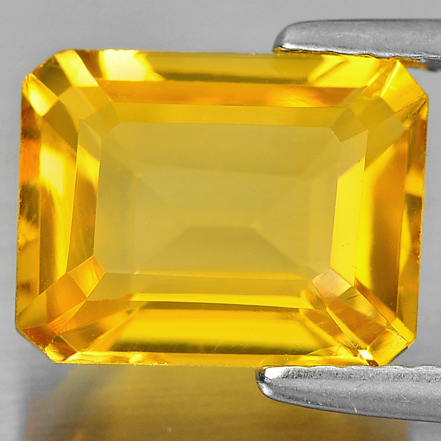 2.82 Ct. Octagon Shape Natural Gemstone Yellow Citrine From Brazil Unheated