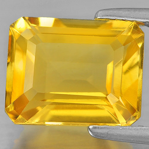 3.32 Ct. Good Octagon Shape Natural Gemstone Yellow Citrine Unheated
