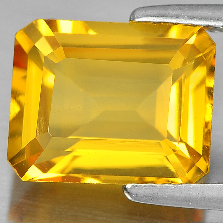 3.02 Ct. Beauteous Octagon Shape Natural Gem Yellow Citrine From Brazil