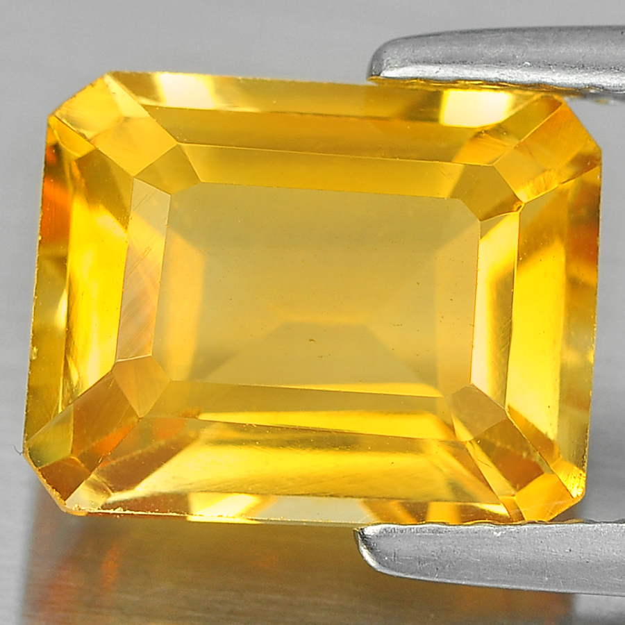 2.87 Ct. Octagon Shape 10 x 8 Mm Natural Gem Yellow Citrine From Brazil