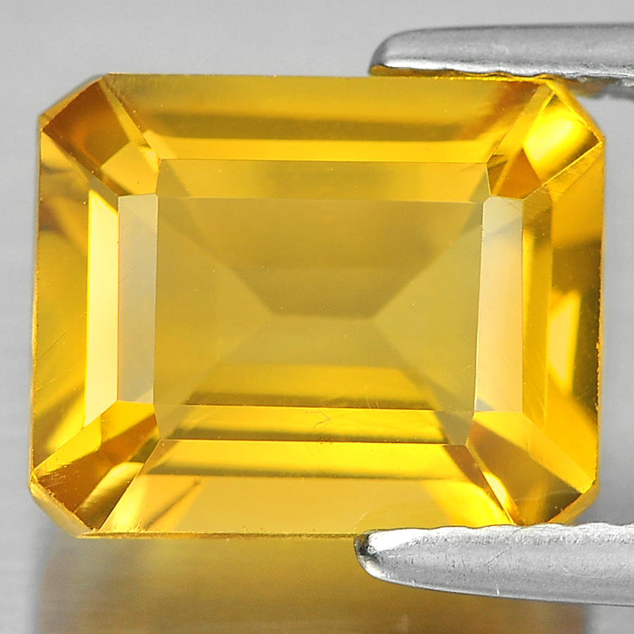 3.10 Ct. Attractive Octagon Shape Natural Gem Yellow Citrine From Brazil