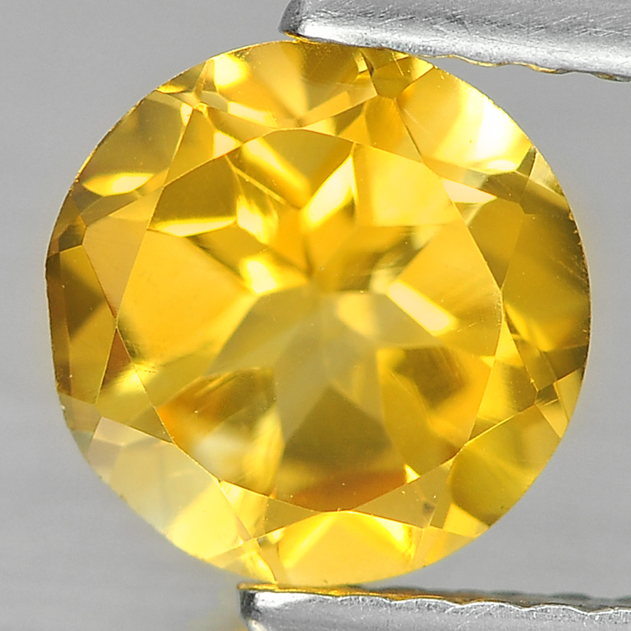 1.17 Ct. Round Shape Natural Gemstone Yellow Citrine Unheated