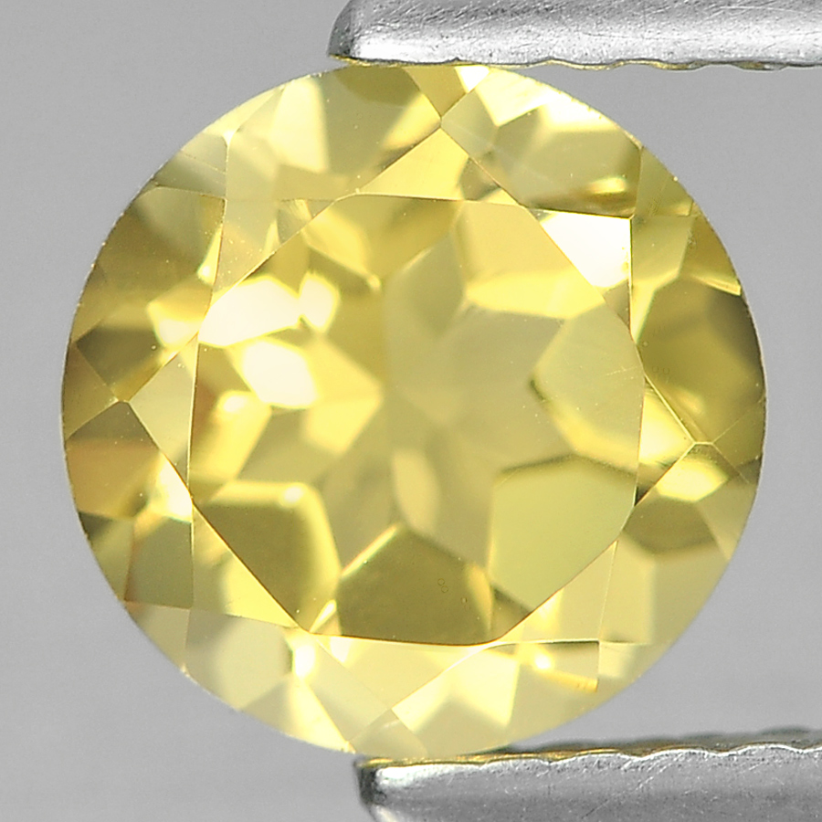 1.25 Ct. Good Cutting Round 7 Mm Natural Yellow Citrine Unheated From Brazil