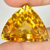 36.10 Ct. Trilliant Shape Natural Gemstone Yellow Citrine Unheated