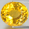 11.09 Ct. Oval Shape Natural Yellow Citrine Gemstone Brazil