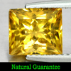 2.03 Ct. Natural Gemstone Yellow Citrine Square Shape From Brazil Unheated