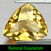 10.15 Ct. Good Color Natural Yellow Citrine Gemstone Trilliant Checkerboard