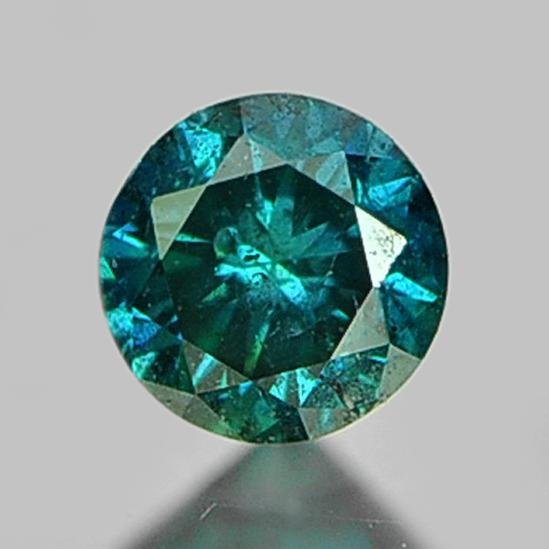 0.08 Ct 2.8Mm Round Natural Greenish Blue Loose Diamond