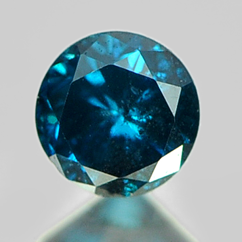 0.14 Ct. 3.1 Mm. Round Natural Blue Loose Diamond