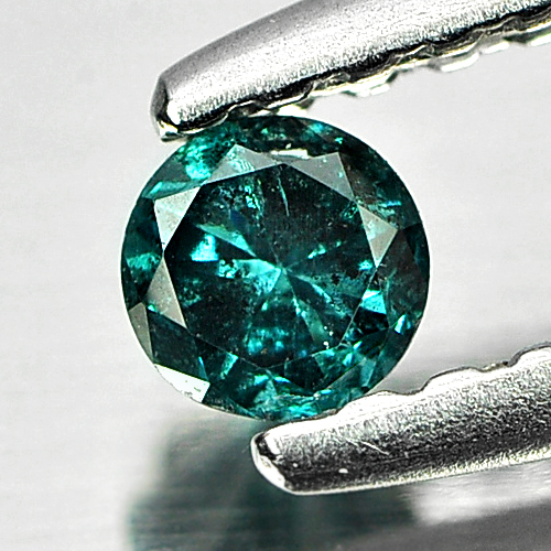 0.12 Ct. 2.9 Mm. Round Brilliant Cut Natural Greenish Blue Loose Diamond