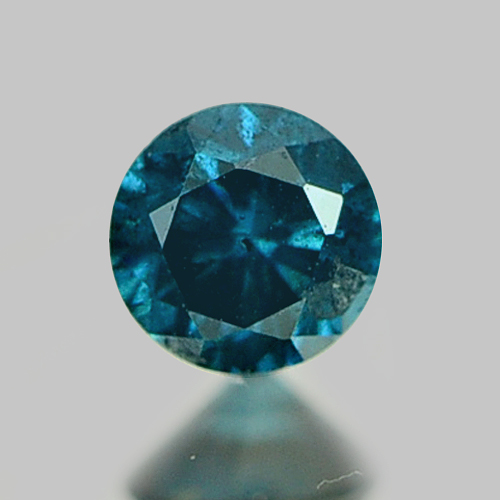 0.09 Ct. 2.7 Mm. Round Natural Rich Greenish Blue Loose Diamond