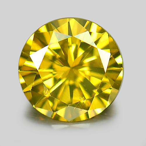0.17 Ct. 3.6 Mm. Round Natural Yellow Loose Diamond