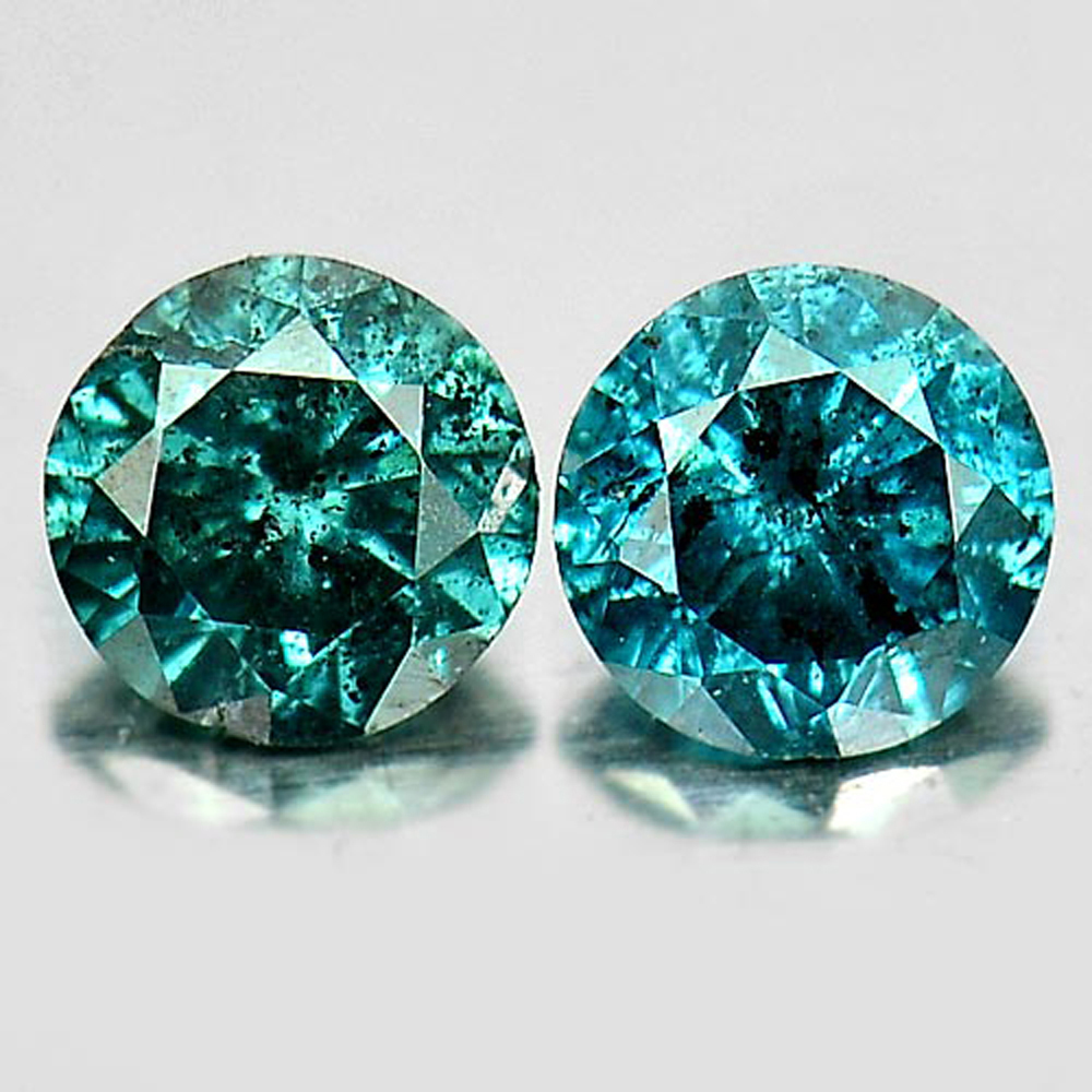 0.15 Ct. 2 Pcs. Nice Round Brilliant Cut Natural Blue Loose Diamond