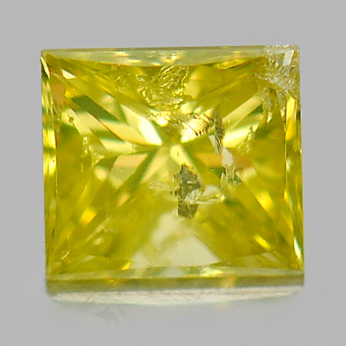 0.18 Ct. Baguette Princess Cut Natural Yellow Loose Diamond Belgium
