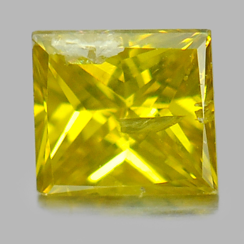 0.14 Ct. Good Color Baguette Princess Cut Natural Yellow Loose Diamond