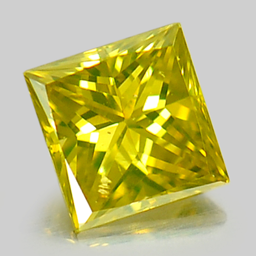 0.10 Ct. Baguette Princess Cut Natural Yellow Loose Diamond Belgium