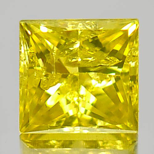0.14 Ct. Alluring Natural Yellow Loose Diamond Baguette Princess Cut 802103364