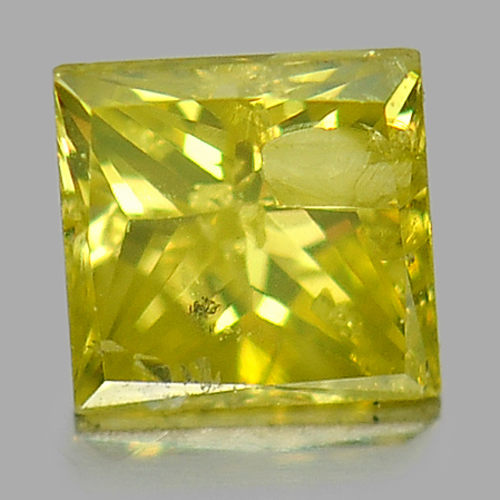 0.15 Ct. Baguette Princess Cut Natural Yellow Loose Diamond Good Color