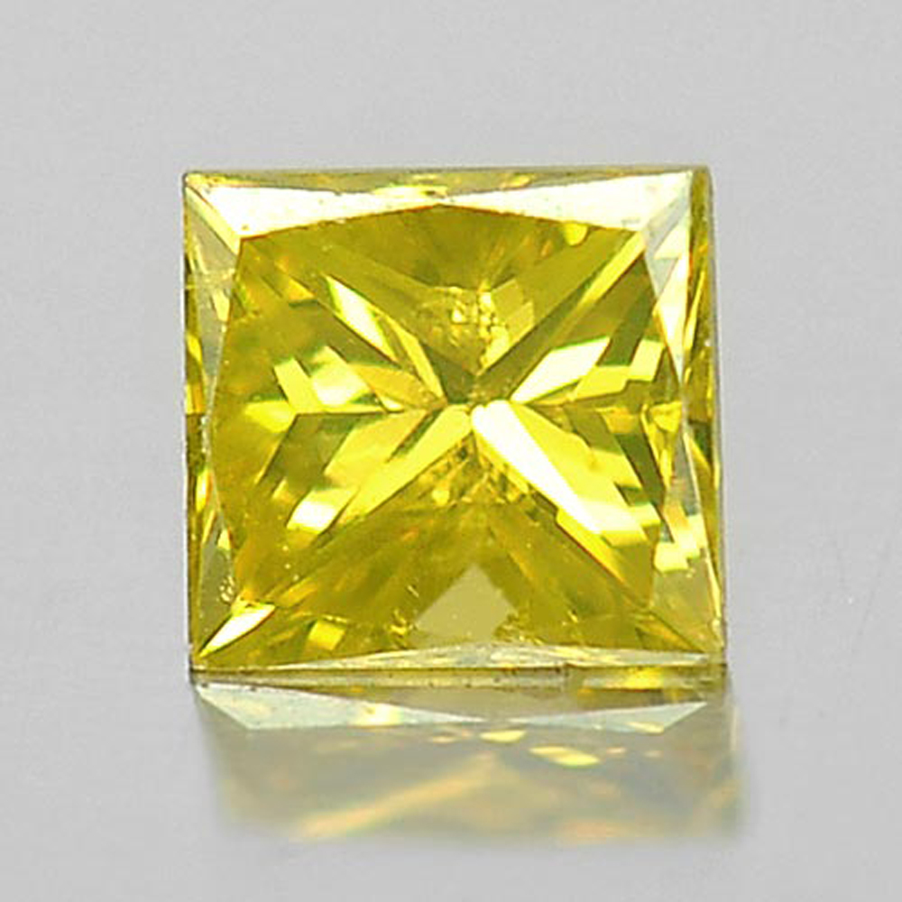 0.12 Ct. Baguette Princess Cut Natural Yellow Loose Diamond Good Color