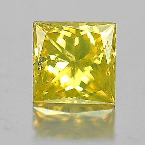 0.10 Ct. Baguette Princess Cut Natural Good Color Yellow Loose Diamond